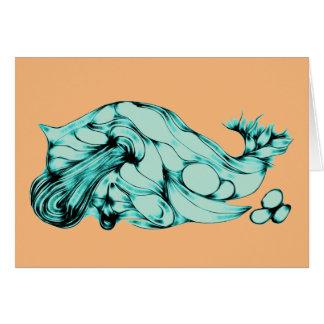 Blue Green Alien Vegetable Card
