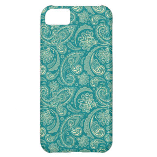 Blue-Green And Beige Creme Vintage Paisley iPhone 5C Cover