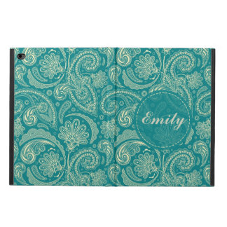 Blue-Green And Beige Creme Vintage Paisley Powis iPad Air 2 Case