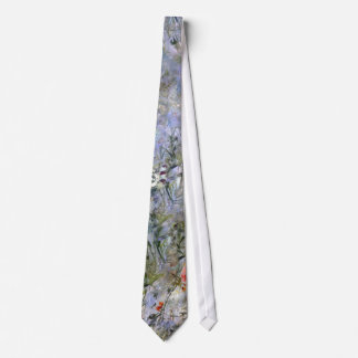 Blue, Green and Lavender Nature Impressions Neck Tie