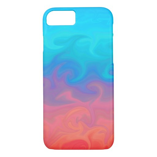 Blue Green and Orange Abstract Design Pattern iPhone 8/7 Case
