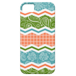 Blue, Green, and Orange Country Patterns iPhone SE/5/5s Case