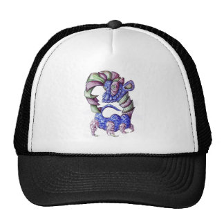 Blue Green and Purple Shell Dinosaur Trucker Hat