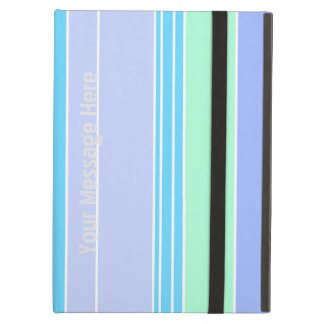 Blue Green and Purple Stripes Cover For iPad Air