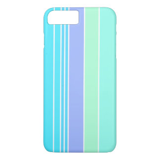 Blue Green and Purple Stripes iPhone 7 Plus Case