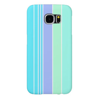 Blue Green and Purple Stripes Samsung Galaxy S6 Case
