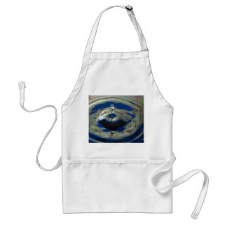Blue Green and Purple Water Drop Adult Apron