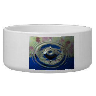 Blue Green and Purple Water Drop Pet Water Bowl