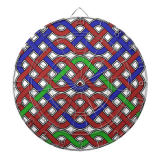 Blue, Green and Red Celtic Knots Dartboards