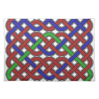 Blue Green and Red Celtic Knots Place Mat