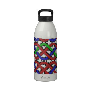 Blue, Green and Red Celtic Knots Reusable Water Bottles