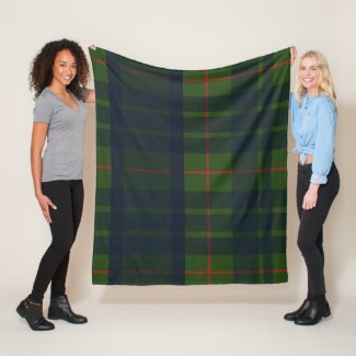 Blue Green and Red Tartan Plaid Blanket