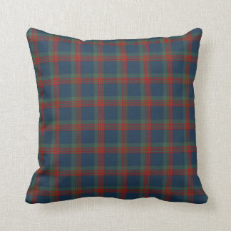 Blue, Green and Red Wilson Clan Scottish Plaid Throw Pillow