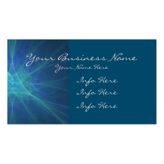 Blue, Green, And Turquoise Fractal Business Card
