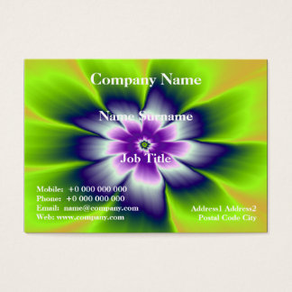 Blue Green and Violet Daisy Flower Business Card