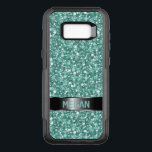 "Blue Green And White Glitter OtterBox Commuter Samsung Galaxy S8  Case<br><div class=""desc"">Beautiful monogrammed blue green and white glitter pattern . Customizable otterbox commuter samsung galaxy S8 case template</div>"