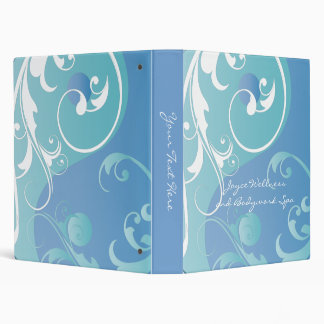 Blue-Green and White Yin and Yang Binder
