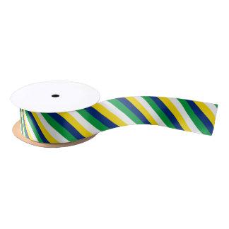Blue, green and yellow colour ribbon satin ribbon