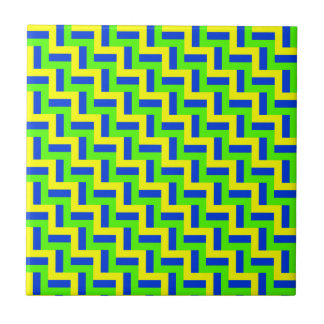 BLUE, GREEN, and YELLOW, OH MY! Ceramic Tile
