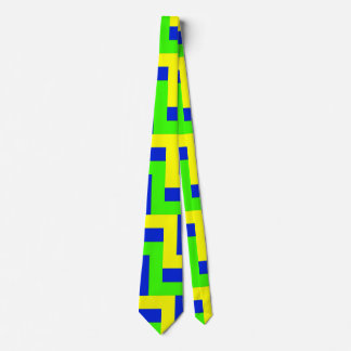 BLUE, GREEN, and YELLOW, OH MY!  (zigzag color pat Tie