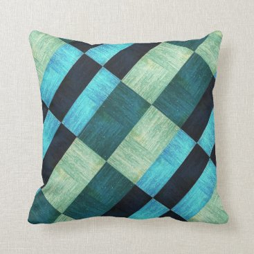 Aztec Themed Blue Green Aztec Decorative Accent Throw Pillow