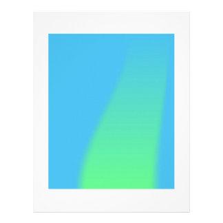 Blue Green Background Custom Letterhead