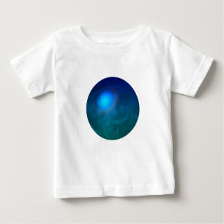 Blue green ball graphic metal reflection swirl t shirts