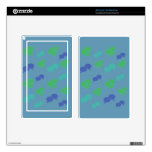 Blue & Green Balloons Kindle Fire Skins