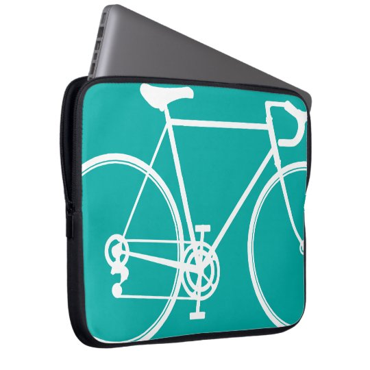 Blue/Green bike design Laptop Sleeve