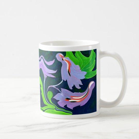 Blue & Green Bird flower mug