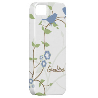 Blue Green Birds Leaves Flowers iPhone 5 Case