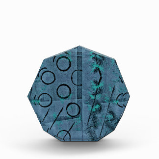 Blue Green Black Abstract Award