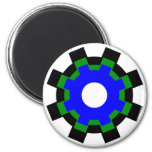 Blue - Green - Black Gears - Magnets