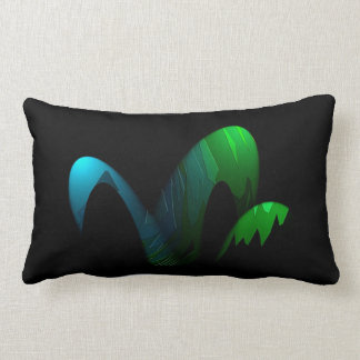 Blue Green & Black Pillow for Interior Decoration