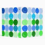 Blue Green Blubbles Go Round and Round Vinyl Binder