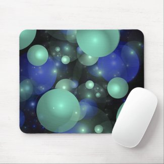 Blue & Green Bubbles mousepad