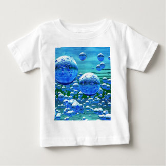 Blue Green Bubbles Teal Baby T-Shirt