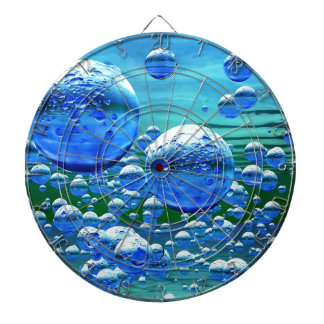 Blue Green Bubbles Teal Dartboard