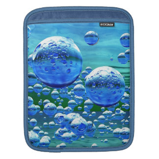 Blue Green Bubbles Teal Sleeve For iPads