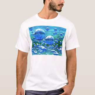 Blue Green Bubbles Teal T-Shirt