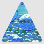 Blue Green Bubbles Teal Triangle Sticker