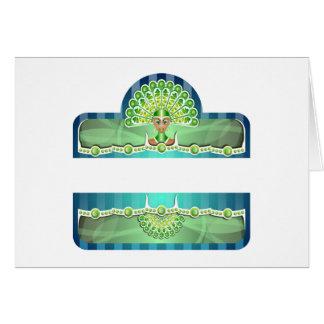 Blue Green Carnival Woman In Headdress Card