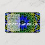 Blue Green Celtic Kaleidoscope Business Card