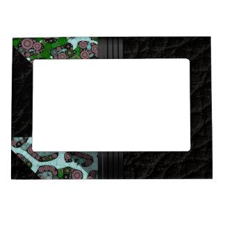 Blue Green Cheetah Magnetic Photo Frame