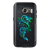 Blue Green Chinese Dragon Otterbox Samsung S7 Case