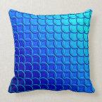 Blue Green &#39;Circle of Life&#39; Pattern, Gradient Throw Pillow (<em>$49.60</em>)