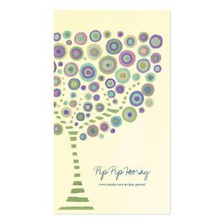 Blue Green Circle Tree Cream Business Profile Card Business Card