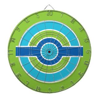 Blue / Green Circles custom dart board