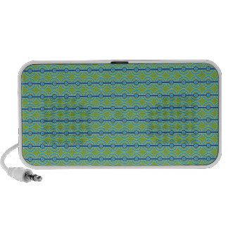 Blue / Green Circles custom Doodle speaker