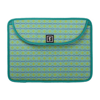 Blue / Green Circles custom MacBook sleeve